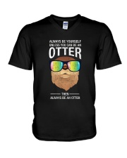 Otter With Rainbow Sunglasses T-Shirt V-Neck T-Shirt thumbnail