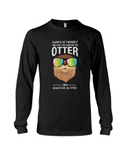 Otter With Rainbow Sunglasses T-Shirt Long Sleeve Tee thumbnail