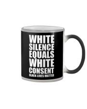 White Silence Equals White Consent T-Shirt Color Changing Mug thumbnail