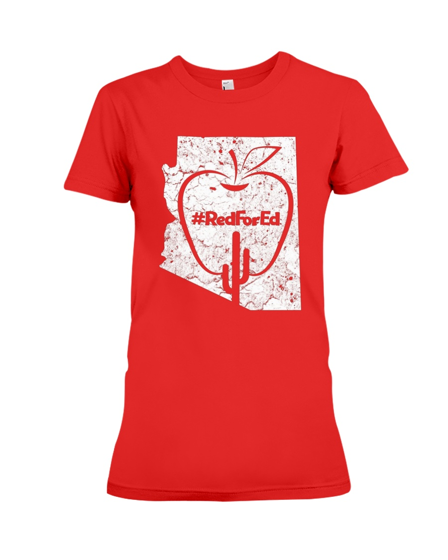 Vintage Red for Ed T-Shirt Premium Fit Ladies Tee