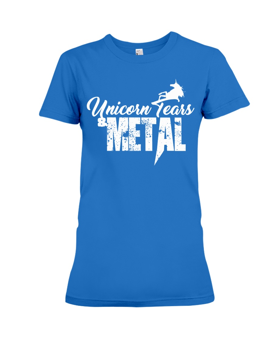 Unicorn Tears and METAL Premium Fit Ladies Tee