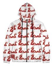 Dragon Sweater Designer  Men's All Over Print Full Zip Hoodie thumbnail