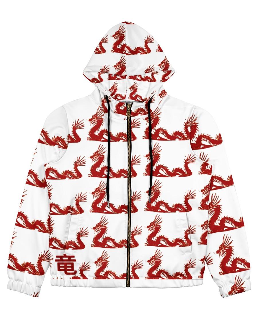 Dragon Sweater Designer  Women's All Over Print Full Zip Hoodie