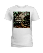 Designer Racoon Forest life  Ladies T-Shirt thumbnail