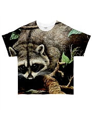 Designer Racoon Forest life  All-over T-Shirt thumbnail