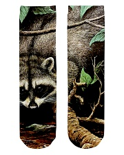 Designer Racoon Forest life  Crew Length Socks tile