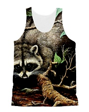 Designer Racoon Forest life  All-over Unisex Tank thumbnail
