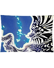 Under water Dragon  Wall Tapestry tile