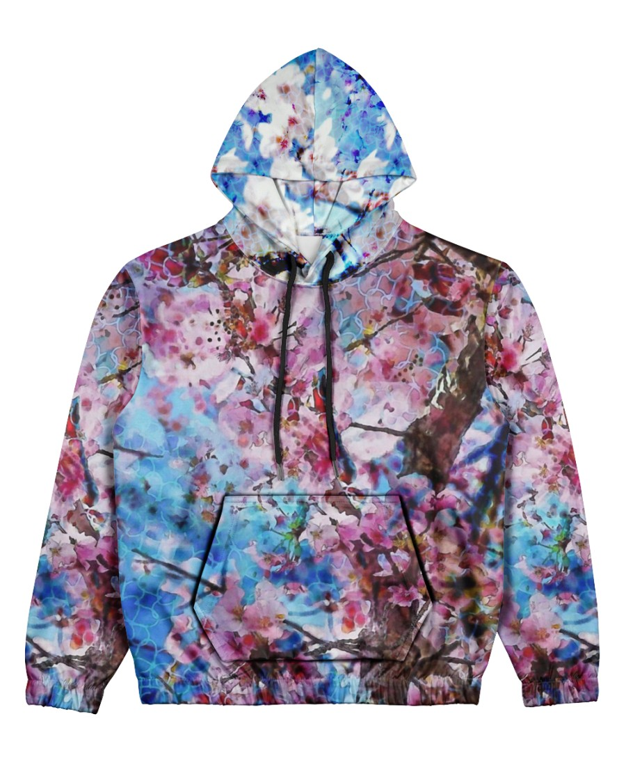 Blossom Print  Women's All Over Print Hoodie