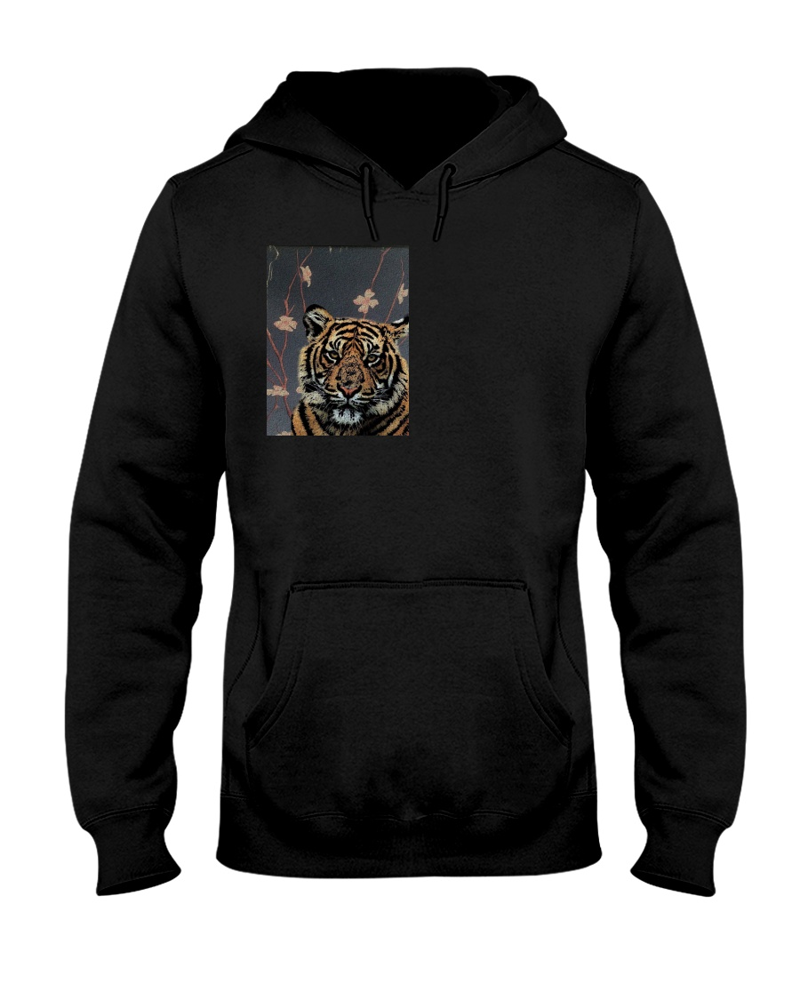 Tiger and Fighting fish Hooded Sweatshirt