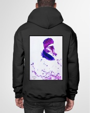 Tiger and Fighting fish Hooded Sweatshirt garment-hooded-sweatshirt-back-01
