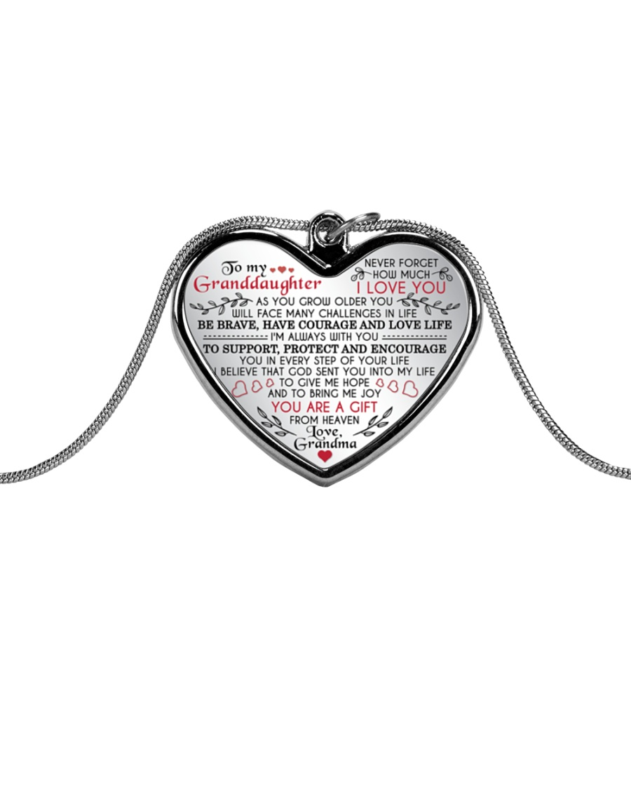 MY GRANDDAUGHTER - Grdma - US Metallic Heart Necklace