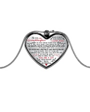 MY GRANDDAUGHTER - Grdma - US Metallic Heart Necklace front