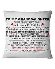 MY GRANDDAUGHTER - Grdma - US Square Pillowcase thumbnail