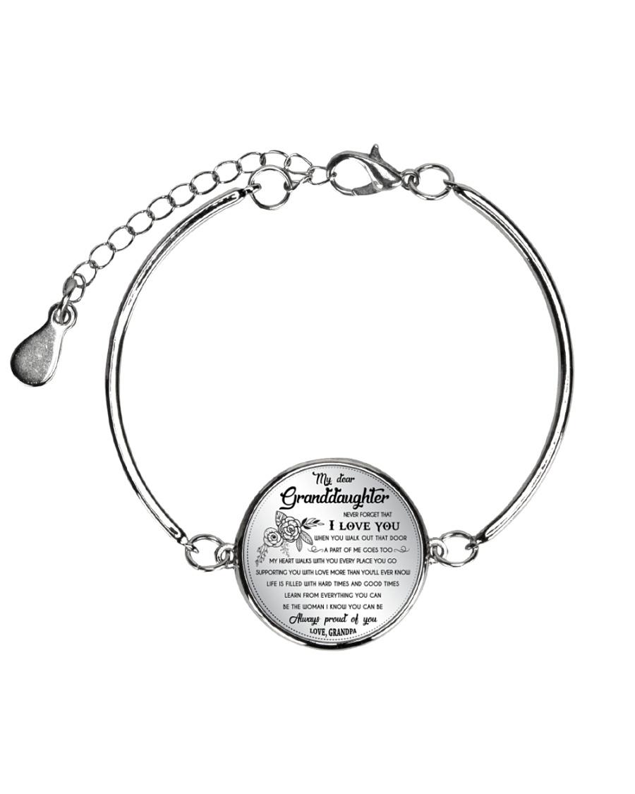 GRANDDAUGHTER - Grandpa Metallic Circle Bracelet