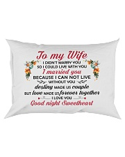 TO MY WIFE Rectangular Pillowcase front