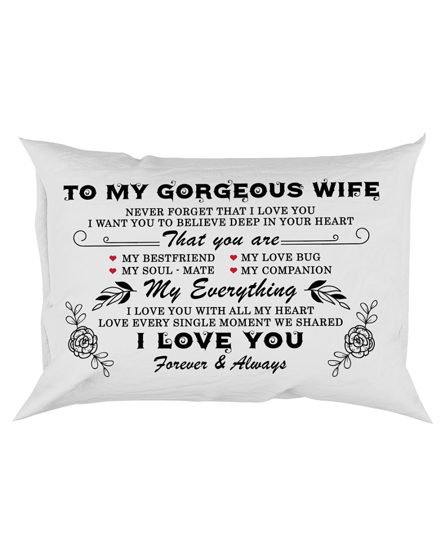 TO MY GORGEOUS WIFE  Rectangular Pillowcase