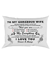 TO MY GORGEOUS WIFE  Rectangular Pillowcase front