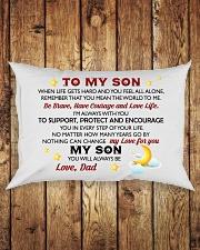 MY SON - DAD Rectangular Pillowcase aos-pillow-rectangle-front-lifestyle-2
