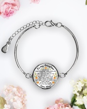 TO MY DAUGHTER - MOM Metallic Circle Bracelet aos-bracelet-metal-front-lifestyle-6