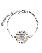 TO MY DAUGHTER - MOM Metallic Circle Bracelet front