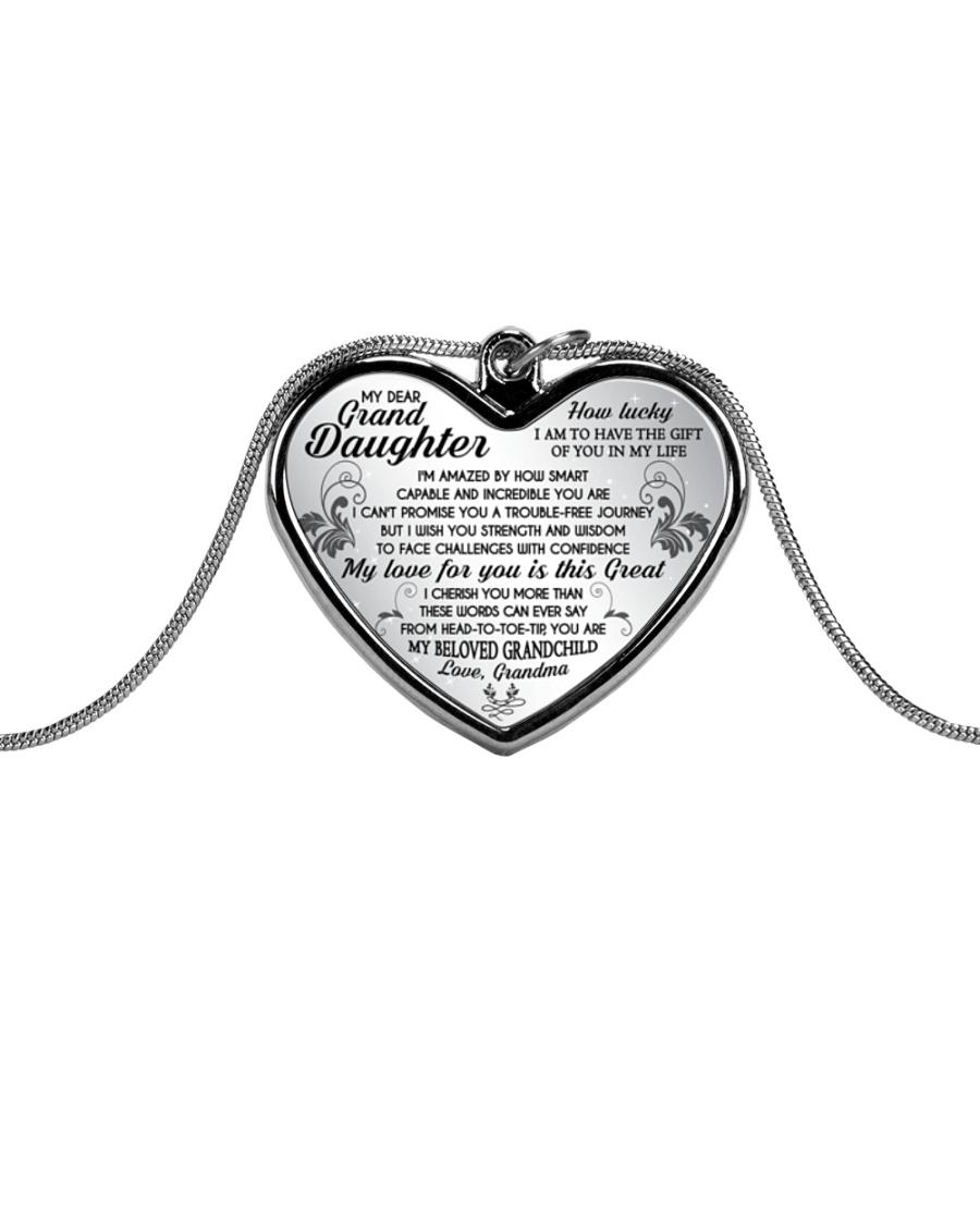 MY GRANDDAUGHTER  Metallic Heart Necklace