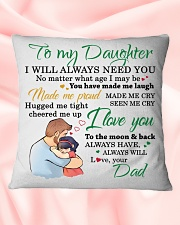 MY DAUGHTER - FDMM346 Square Pillowcase aos-pillow-square-front-lifestyle-40