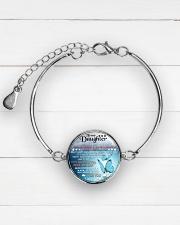 TO MY DAUGHTER - MOM Metallic Circle Bracelet aos-bracelet-metal-front-lifestyle-2