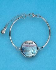 TO MY DAUGHTER - MOM Metallic Circle Bracelet aos-bracelet-metal-front-lifestyle-3