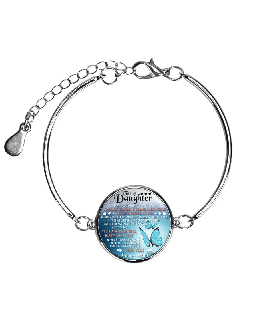 TO MY DAUGHTER - MOM Metallic Circle Bracelet