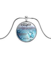 TO MY DAUGHTER - MOM Metallic Circle Necklace thumbnail