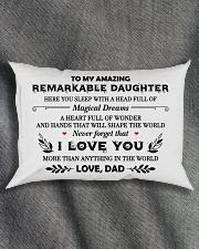 TO MY DAUGHTER - DAD Rectangular Pillowcase aos-pillow-rectangle-front-lifestyle-1