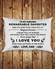 TO MY DAUGHTER - DAD Rectangular Pillowcase aos-pillow-rectangle-front-lifestyle-2