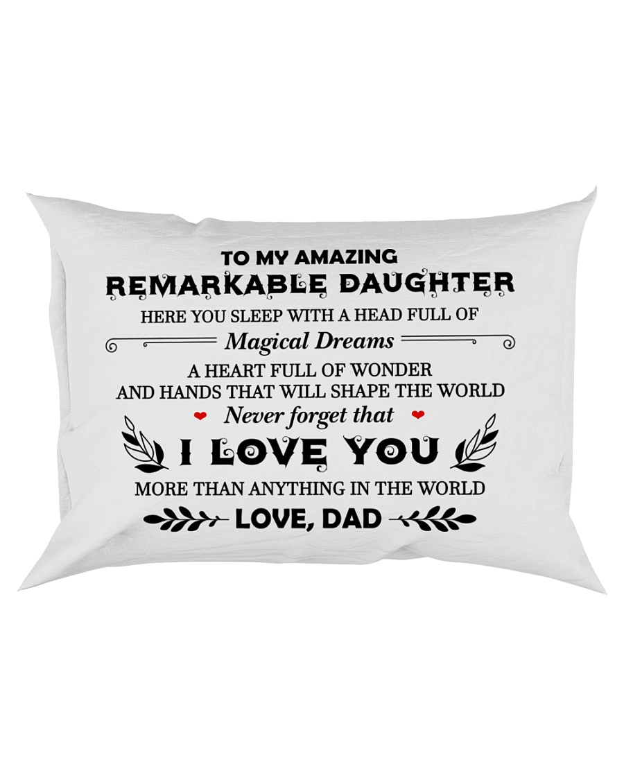 TO MY DAUGHTER - DAD Rectangular Pillowcase