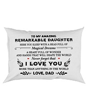 TO MY DAUGHTER - DAD Rectangular Pillowcase front