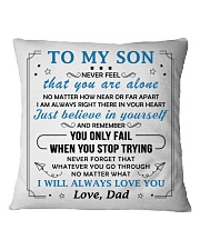 MY SON - DAD Square Pillowcase tile