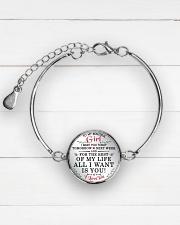MY BEAUTIFUL GIRL Metallic Circle Bracelet aos-bracelet-metal-front-lifestyle-2