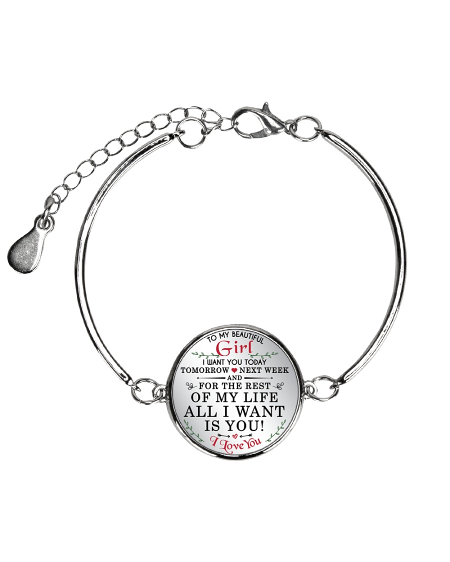 MY BEAUTIFUL GIRL Metallic Circle Bracelet