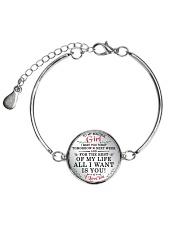 MY BEAUTIFUL GIRL Metallic Circle Bracelet front