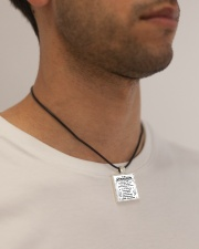 GRANDSON - Grpa Cord Rectangle Necklace aos-necklace-square-cord-lifestyle-2