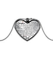 MY DAUGHTER - MOM Metallic Heart Necklace front