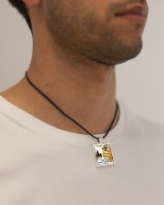 MY SON - MOM Cord Rectangle Necklace aos-necklace-square-cord-lifestyle-2