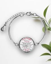 MY DAUGHTER - MD19Q84 Metallic Circle Bracelet aos-bracelet-metal-front-lifestyle-4