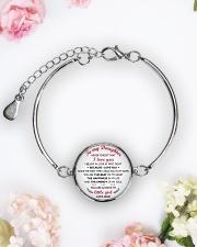 MY DAUGHTER - MD19Q84 Metallic Circle Bracelet aos-bracelet-metal-front-lifestyle-6