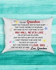 DISCOUNT - TO MY GRANDSON - GRANDMA Rectangular Pillowcase aos-pillow-rectangle-front-lifestyle-5
