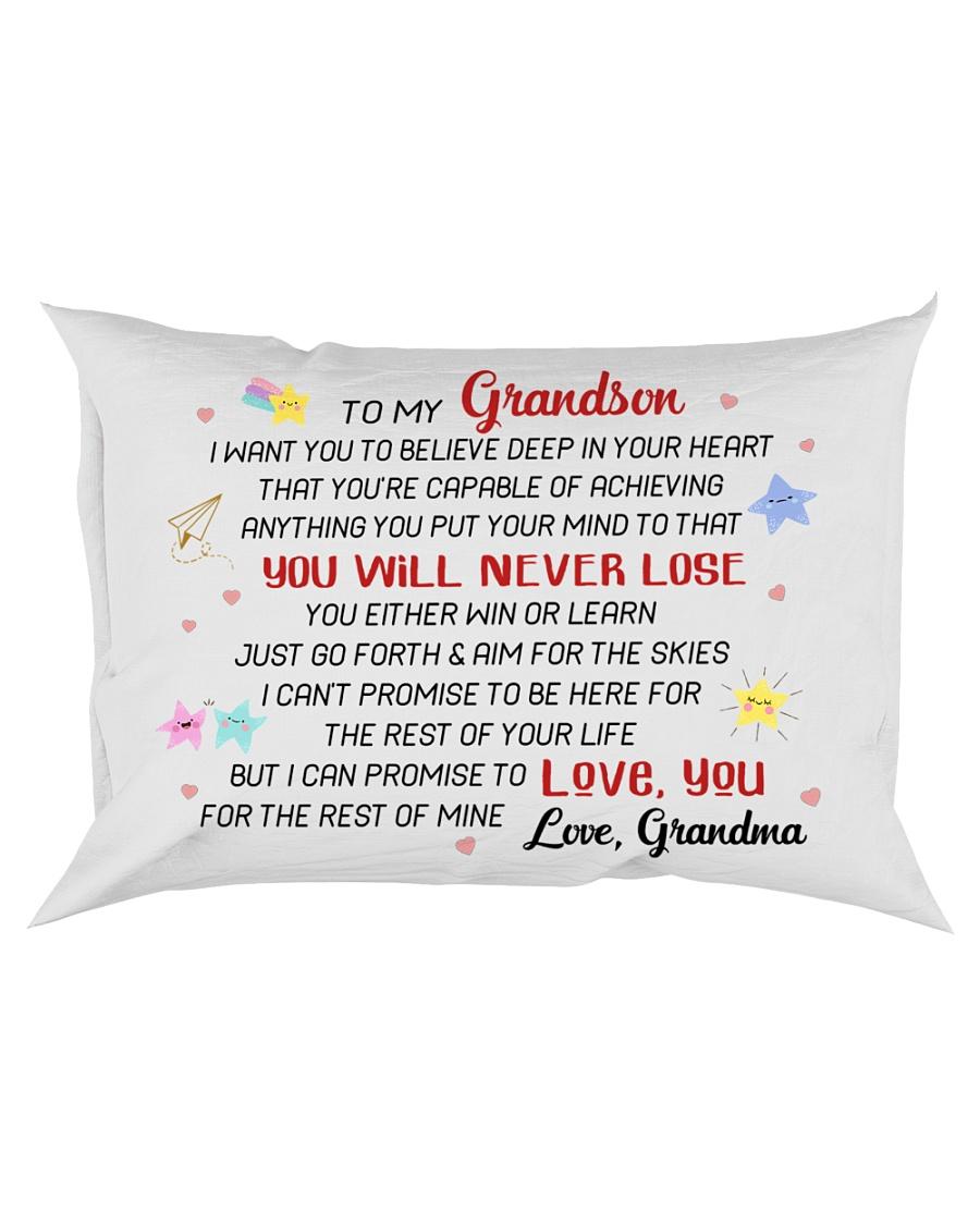 DISCOUNT - TO MY GRANDSON - GRANDMA Rectangular Pillowcase