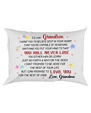 DISCOUNT - TO MY GRANDSON - GRANDMA Rectangular Pillowcase front