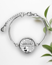 MY GRANDDAUGHTER  Metallic Circle Bracelet aos-bracelet-metal-front-lifestyle-4