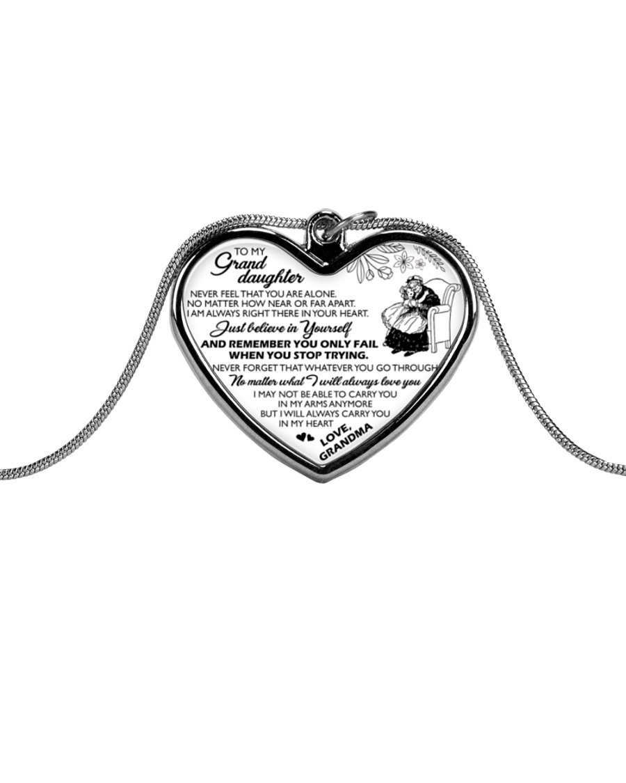 MY GRANDDAUGHTER  Metallic Heart Necklace