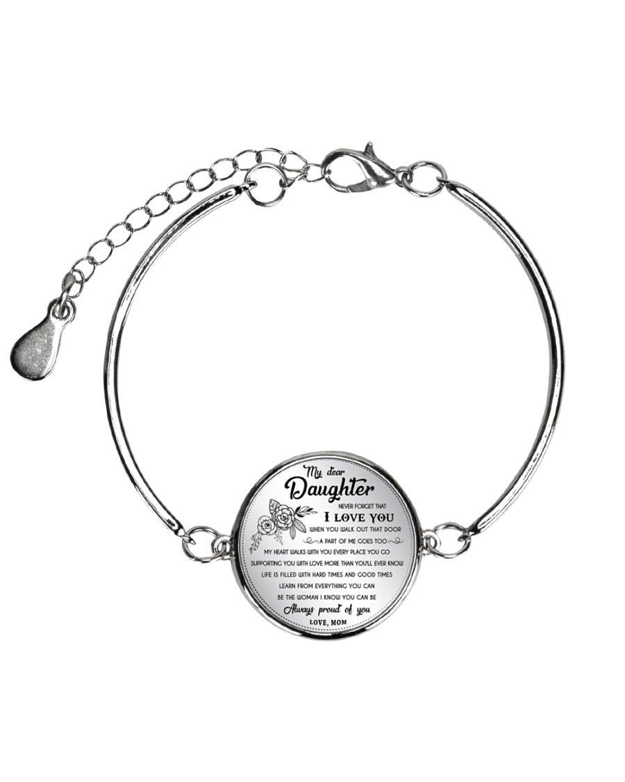 MY DAUGHTER - MOM Metallic Circle Bracelet